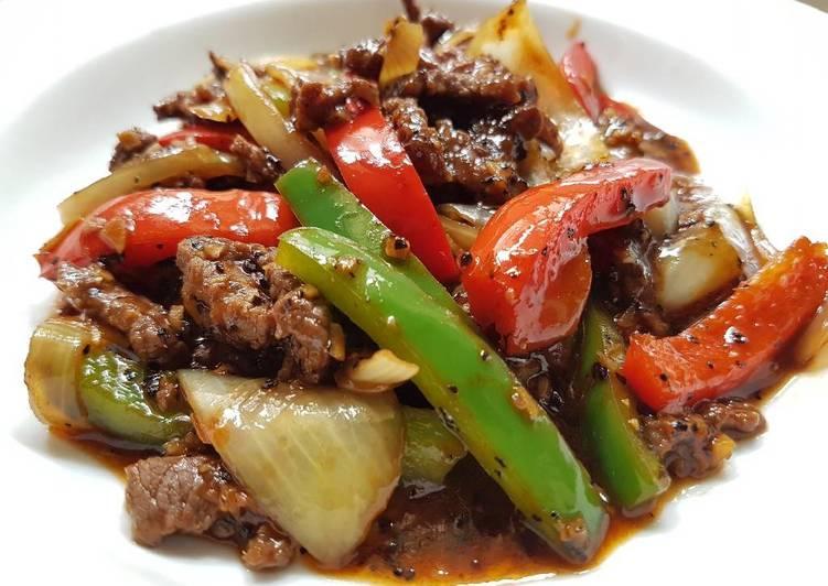 Black pepper beef